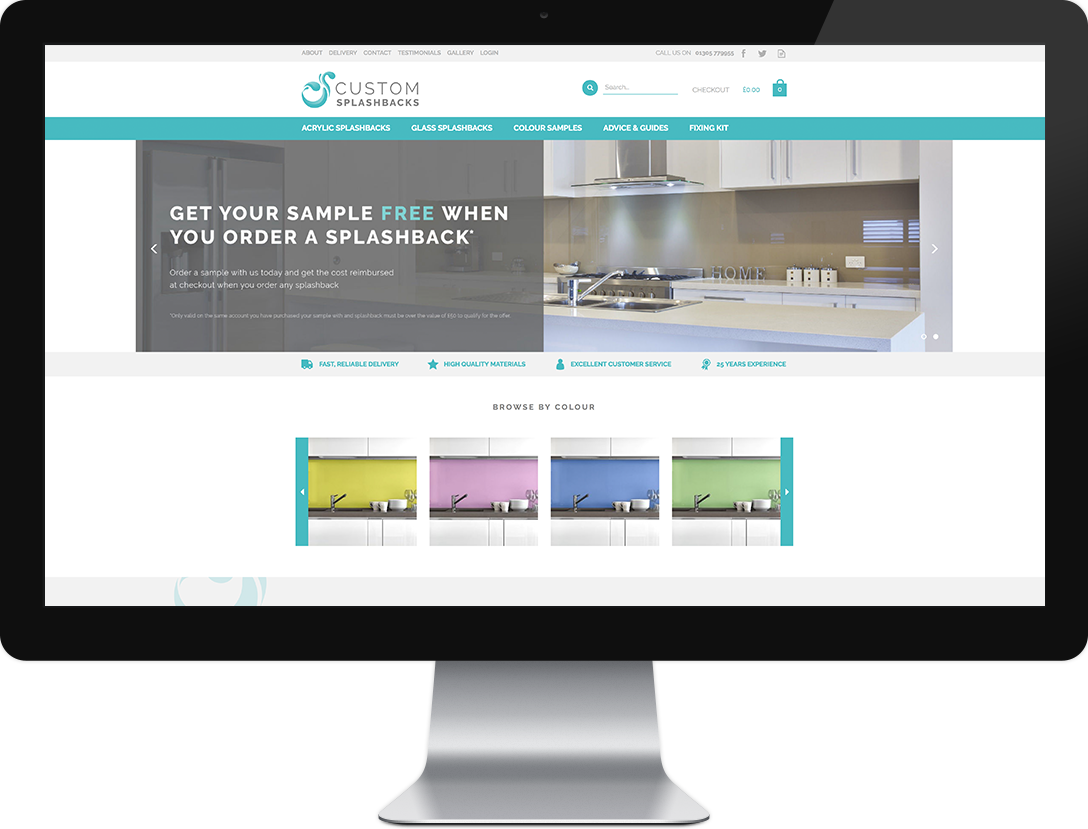 Custom Splashbacks website