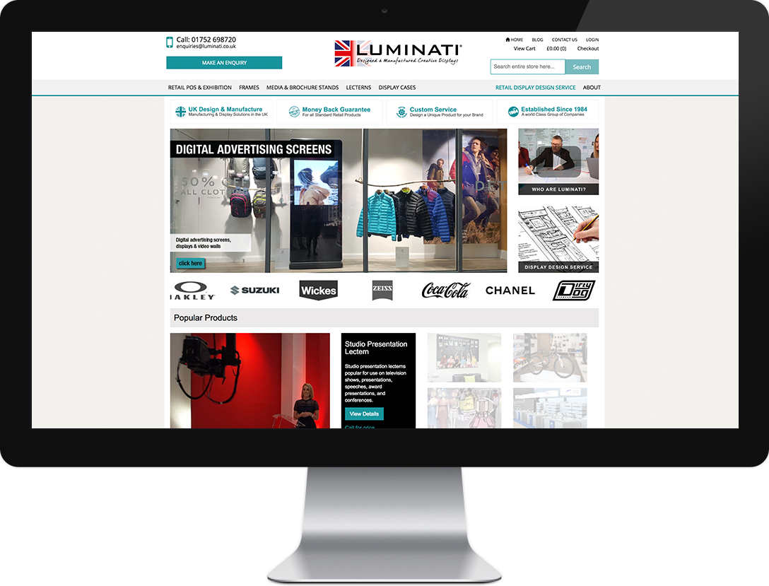 Luminati website